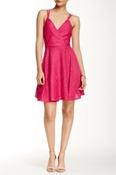 Romeo And Juliet Couture Lace Strappy Back Dress Pink