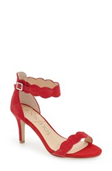 Sole Society Women's 'Pia' Ankle Strap Sandal Red