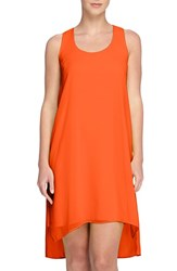 Women's Catherine Catherine Malandrino 'Lucila' Chiffon Overlay High Low Tank Dress