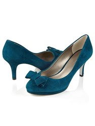 Jacques Vert Suede Bow Shoe Green