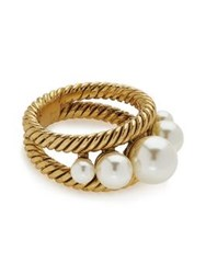 Marc Jacobs Pearls Pearl Rope Ring Gold Plated
