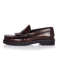 River Island Mens Dark Red Heavy Sole Loafers