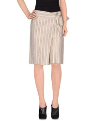 Fabrizio Lenzi Skirts Knee Length Skirts Women Grey