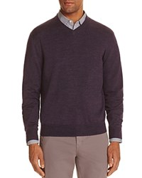 Bloomingdale's The Men's Store At Merino Wool V Neck Sweater Compare At 88 Purple
