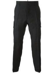 Dsquared2 Skinny Cropped Pocket Trousers Black