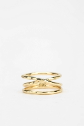 Urban Outfitters Crossover Ring Gold