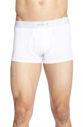 Naked 'Essential' Stretch Cotton Trunks 2 Pack White