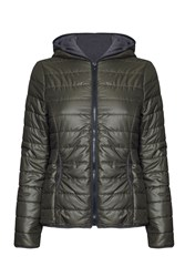 James Lakeland Short Puffer Jacket Green