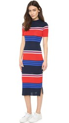 Sjyp Stripe Knit Dress Navy