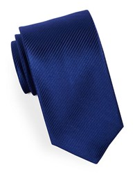 Hugo Narrow Striped Silk Tie Blue