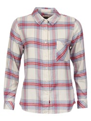 Barbour Tidewater Check Shirt Red Check