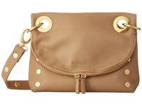 Hammitt Tony Moon Suede Gold Cross Body Handbags Brown