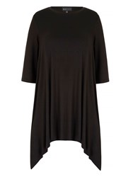 Mela Loves London Jersey Swing Top Black