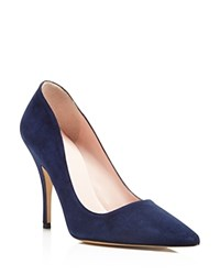 Kate Spade New York Licorice High Heel Pointed Toe Pumps Navy