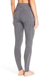 Zella Women's 'Live In' High Waist Mesh Insets Leggings Grey Graphite Flare