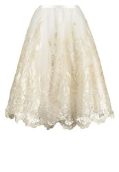 Chi Chi London Estrella Aline Skirt Cream Blue