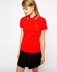 Fred Perry Polo Shirt Hibiscuspink
