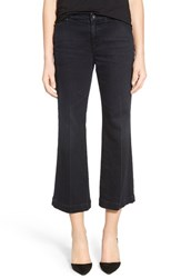 Ag Jeans Women's Ag 'Layla' Crop Flare Trouser Jeans 1 Year Faded Black