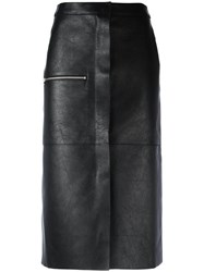 Golden Goose Deluxe Brand Leather Midi Skirt Black