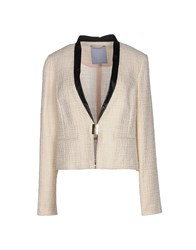 Silvian Heach Suits And Jackets Blazers Women Ivory