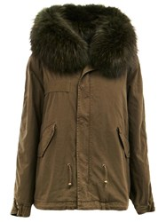 Mr And Mrs Italy Concealed Fastening Parka Coat Green