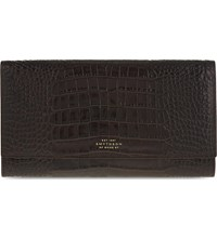 Smythson Mara Marshall Leather Travel Wallet Brown