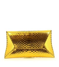 Vbh Manila Python Clutch Bag Female Gold