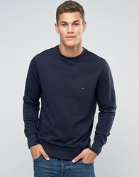 Tommy Hilfiger Sweatshirt With Flag Logo In Navy 08578A1575