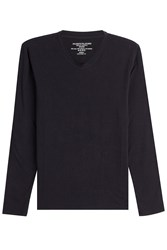 Majestic Long Sleeved Top With Cotton And Cashmere Gr. Xl
