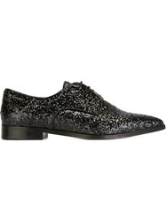 Red Valentino Glitter Oxford Shoes Black