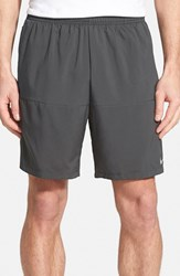 Nike Men's Dri Fit Woven Running Shorts Anthracite Reflective Silver