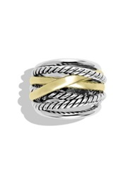 David Yurman Crossover Wide Ring With Gold No Color Silver Gold