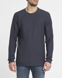 Forvert Navy Horby Round Neck Sweater Blue