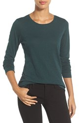 Caslonr Women's Caslon Long Sleeve Slub Knit Tee Green Ponderosa