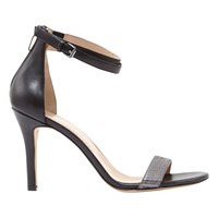 Mint Velvet Fleur Stiletto Heeled Sandals Black Pewter