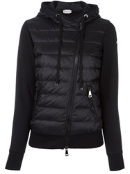 Moncler Padded Panel Hooded Jacket Black