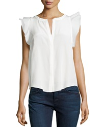 Madison Marcus Ruffle Sleeve Blouse White