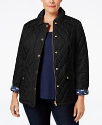 Charter Club Plus Size Quilted Puffer Coat Only At Macy's Deep Black