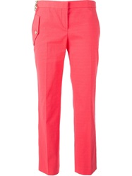 Versace Cropped Trousers Pink And Purple