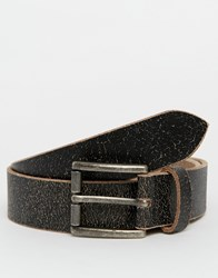 Racing Green Leather Casual Belt Black