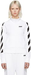 Off White Sporty Logo Zip Up