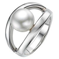 A B Davis Sterling Silver White Pearl Oyster Ring N