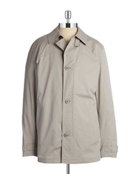 Bugatti Stitched Panel Trenchcoat Grey