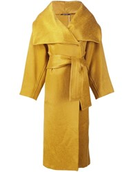 Maison Martin Margiela Belted Long Coat Yellow And Orange