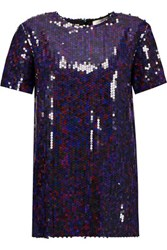 Nina Ricci Sequined Crepe T Shirt Multi