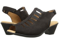 Softspots Faye Black Otago Nubuck Women's 1 2 Inch Heel Shoes