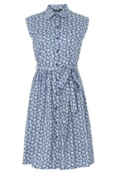 Sugarhill Boutique Ethel Shirt Dress Blue