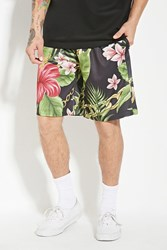 Forever 21 Reason Floral Chain Mesh Shorts