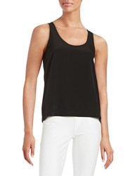 H Halston Sleeveless Hi Lo Tank Black