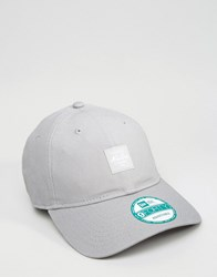 New Era 9Forty Cap Adjustable Patch Logo Grey